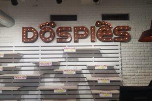 Letras corpóreas vintage iluminadas con bombillas con filamentos fabricadas para Dos Pies
