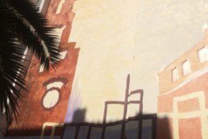 Mural realizado en el año 2001 en colaboración con José María Díez en sede Avante