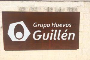 Plafón calado de acero corten realizado para Grupo Huevos Guillén