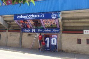 Trabajo especial en Estadio Francisco de La Hera en Homenaje a José Antonio Reyes